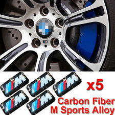M Power Performance Badge 5 Sticker Emblems Decal For BMW M Sport Alloy Wheel A1