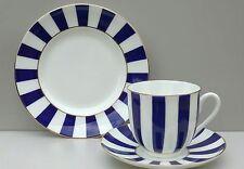 YES AND NO, egg-shell thin Bone China Trio, Lomonosov Imperial Porcelain RUSSIA