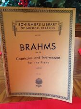 Antique 1916 Brahms Op. 76 Capriccios And Intermezzos For Piano Music Book
