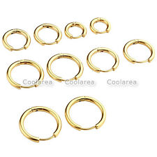 8-16mm Gold Stainless Steel Ear Helix Hoop Huggie Stud Sleeper Earrings Piercing