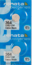 2 pcs 364 Renata Watch Batteries SR621SW FREE SHIP 0% MERCURY