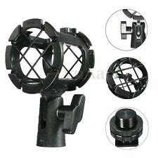 Mic Microphone Suspension Shock Mount Clip Clamp Holder Stand Studio + Hot Shoe