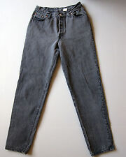 Vintage Levi's 501 High Waisted Denim Mom Jeans 13 Black 28""
