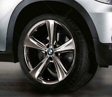 "New BMW E70 X5 Spider Spoke 128 Midnight Chrome 21"" Rear Wheel Rim 36116792686"