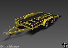 TRAILER PLANS - 2500KG FLATBED (CAR CARRIER) TRAILER PLANS