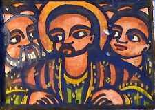 Orthodox Ethiopian Christian Hinged Altar Hand Painted Biblical Icon, Ethiopia
