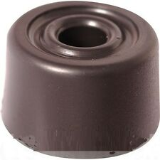 NEW rubber PVC plastic door stop bump buffer round screw down. BLACK.  Bargain!!