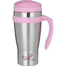 Trudeau Drive Time Travel Coffee or Tea Mug, 18 oz. SS, BCR Pink trim