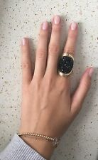 DYRBERG KERN designer yellow gold tone cocktail ring 16.5 6 M 185$ marni lanvin