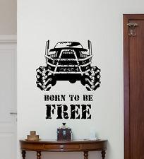 Monster Truck Wall Decal 4x4 Racing Poster Sports Vinyl Sticker Art Decor 219hor