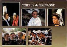 CPA Frankreich France Coiffes de Bretagne color Mehrbildkarte Tracht Trachten