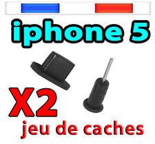 Cache poussière noir Bouchon iPHONE 6 Plus 6 5 5S 5C iPAD 4 Air /mini iTOUCH 5
