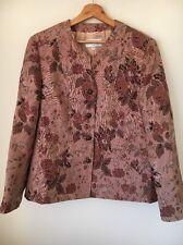 Gray et osbourn taille 18 rose entièrement neuf sans étiquette tapisserie imprimé doublé veste < T9504