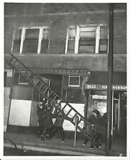 Vintage Photo of Fire at Furniture Store in Chicago Fire Department Albany Park