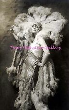A Flapper Flaunting Her Feathers - Historic Photo Print