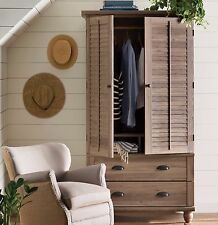 Wardrobe Armoire Storage Closet Clothes Cabinet Bedroom Furniture Organizer Wood