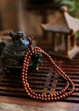 India Lobular Red Sandalwood 108 6MM Buddhist Prayer Bead Mala Bracelet/Necklace