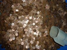 $100 Face over 68 lbs Copper Pennies Bullion Cents 1909 - 1982 Machine Sorted