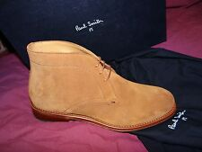 PAUL SMITH FAB TAN TERRACOTTA SUEDE CHELSEA BOOTS UK 7 EU 41 US 8
