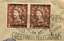 GREAT BRITAIN: (12412) Telegram/Tax/Dues//Algier/Paddington/cover