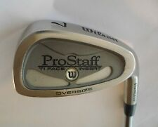 WILSON PROSTAFF TI FACE INSERT OVERSIZE 7 IRON   R Flex Steel Shaft, Wilson Grip