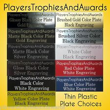 "3"" x 4"" Thin plastic name plate Custom Nameplate 3x4 engraved sign tag"