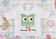 ☆╮Cool Cat╭☆【PR-90】Blythe Pullip Doll Printing Tee(Owl)# White