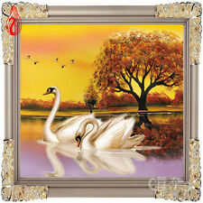 YGS-40 5D DIY Round Diamond Painting Kits Embroidery Cross Stitch Soulmate Swan