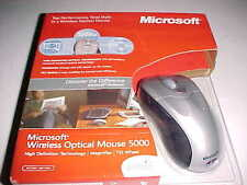 Microsoft M03-00090 Wireless Optical Mouse 5000 High Definition Tilt Wheel New