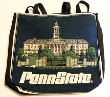PENN STATE EMBROIDERED CANVAS TOTE BAG PSU Nittany Lions college university