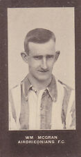 F & J Smith - Footballers (No Series Title) 1908 # 82 W McGran - Airdrie
