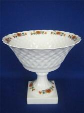 Vintage LIMOGES LEC-LECLAIR TERNET Floral Design Porcelain Large Footed Bowl