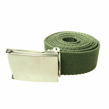 New Mens Womens 30mm Cheap Cotton Canvas Fabric Webbing Flat Square Buckle Belt