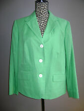 NWT RALPH LAUREN BLAZER JACKET COAT WOMEN size 14W HAMPTON GREEN 100% LINEN $208