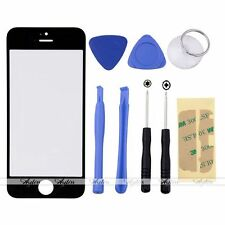 Replacement Front Outer Screen Glass Lens + 8 Tools for Apple iPhone 5S Black
