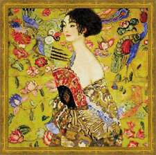 """Counted Cross Stitch Kit RIOLIS - """"Lady with a Fan after G. Klimt`s Painting"""""""