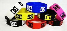SET OF 3 DC ROB DYRDEK WRISTBAND SILICONE BRACELET SPORTS NEW BLACK BLUE WHITE