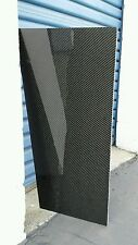 "Real Carbon Fiber Fiberglass Panel Sheet 6""x18""x2mm Glossy Both Sides"