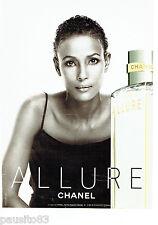 PUBLICITE ADVERTISING 1016  2001  Allure parfum par Chanel