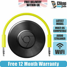 Google chromecast audio media genuine wifi streamer pour android/ios noir-neuf