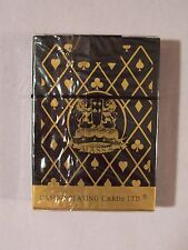 Massa Casino Quality Playing Cards Gold & Black Linen Finish 1 Deck Sealed New