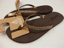 REEF WOMENS SANDALS TWISTED STARS BRONZE SIZE 6
