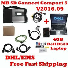 OBD2 For MB SD C5 Connect C5 Star New V2016.9 Diagnostic Tool+ Dell D630 Laptop