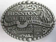 National Finals Rodeo Hesston 2008 NFR Adult Cowboy Buckle, AGCO New, Orig. Pkg.