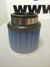 MOTORCYCLE CLAMP ON BLUE FOAM POWER AIR FILTER 50mm WITH CHROME CAP