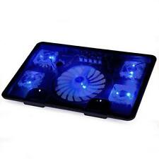 "New 5 Fans Blue LED 2 USB Port Cooling Stand Pad Cooler 10""-17"" Laptop Notebook"