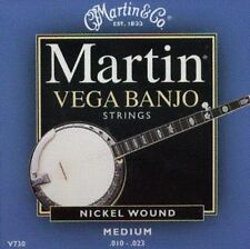 MARTIN & CO. NICKEL WOUND MEDIUM BANJO STRINGS  - NEW!!