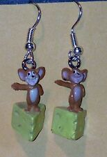 "HANNA BARBARA Tom & Jerry FIGURE ""Jerry"" FIGURE DANGLE EARRINGS NEW"