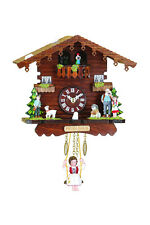 Schaukeluhr Schwarzwald mit Heidi Swinging doll Clock MADE in GERMANY 505SQ