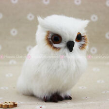 White Furry Owl Christmas Ornament Decoration Adornment Simulation Hair 3.5 Inch